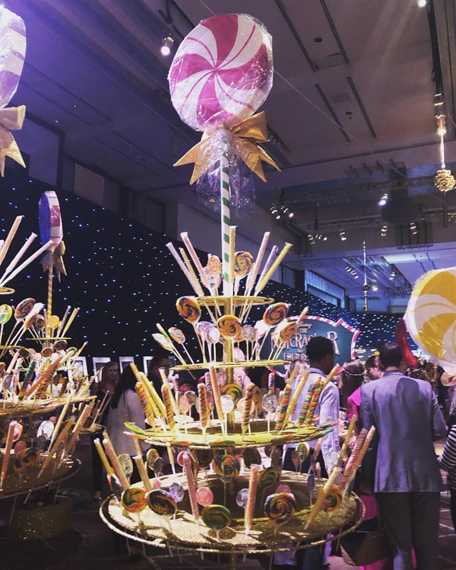 <p>The premiere party boasted a giant candy bar</p>