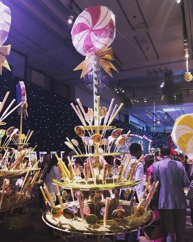 The premiere party boasted a giant candy bar