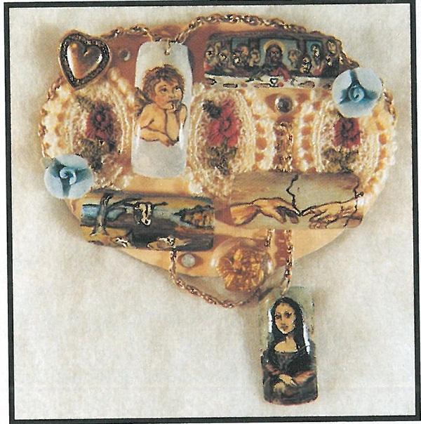 "Annie Leonard calls this her ""Favorite Paintings"" nail art pin."