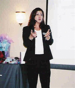 <p>When OPI account exec Renee Meyers flies for work, such as for this trainign session on Long Island, she ships her product by land ahead of time to avoid the inspections and delays that could be caused by packing flammable material in her luggage.</p>