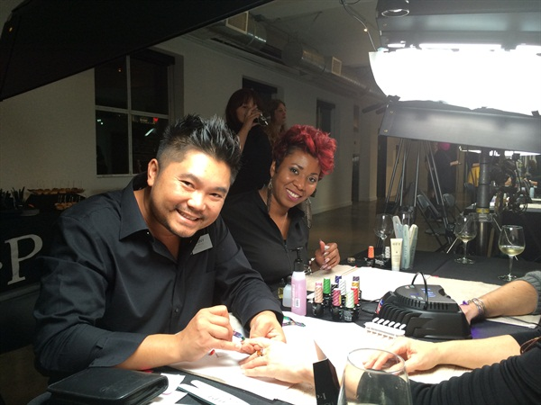 Danny Phung and Kesha Scales demo some of their inspirational new designs for guests.