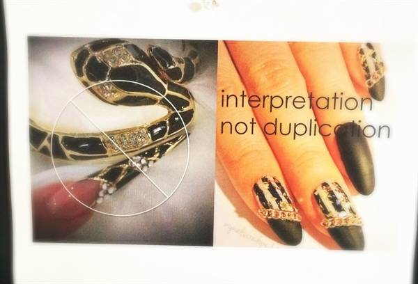 "I love this message: ""Interpretation, not duplication."""