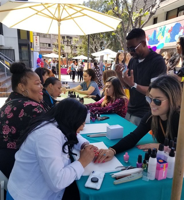 <p>OPI's Tokyo Collection was popular at the event.</p>