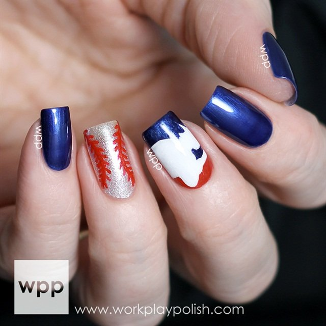 """<p>Via <a href=""""http://www.workplaypolish.com/2014/05/baseball-nails-with-opis-limited-edition-mlb-fashion-plate-collection.html"""">Work Play Polish</a></p>"""