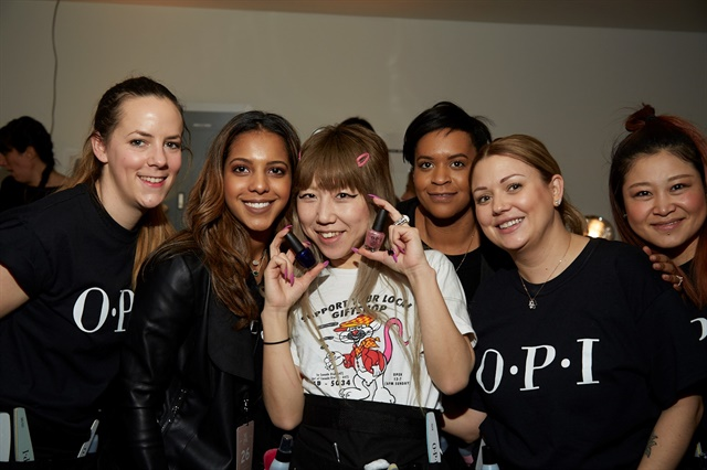 <p>Mei Kawagiri with the OPI team.</p>