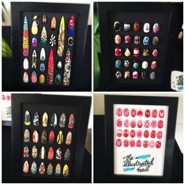 Some examples of The Illustrated Nail's art.