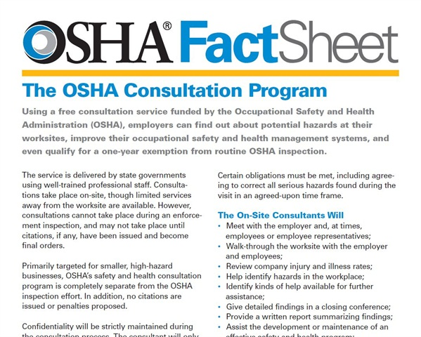 How To Request An Osha On Site Consultation Health