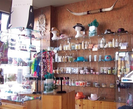 <p>Everything from lotion to cowboy hats are retailed at Sun/Spa/Tan/Body.</p>