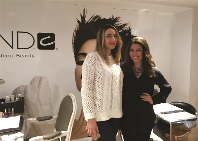 <p>That's me and nail tech of 10 years,  Vicky Llongo (left).</p>
