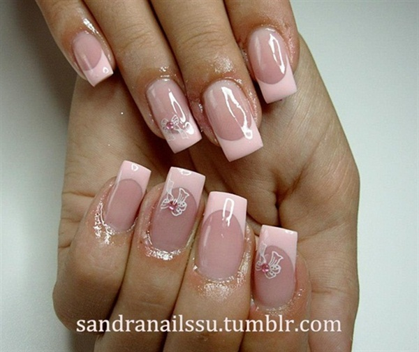 French Design Nail Art Gallery: Technique Tuesday: 9 Pink And Flirty French Tip Ideas