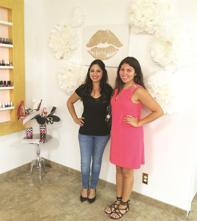 <p>Owner Valeri Zuniga (left) and NAILS senior editor Beth Livesay.</p>