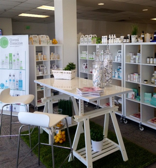 The Wellness & Beauty Learning Center boasts an extensive retail area.