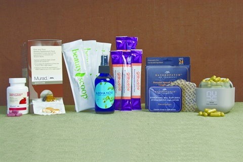 <p>Left to right: Murad, Opus Skincare, Buddha Bose, Nestle, Naturopatch, Nude</p>