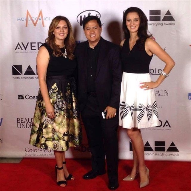 Left to right: Rochelle Dingman, photographer Ed Carlo Garcia, and Rochelle's daughter Phoebe Dingman, who was the makeup artist and hairstylist on the entry.