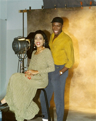 <p>Flo-Jo and her husband Al.</p>