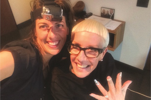 <p>I wore the Go-Pro cam while working on Jan Arnold's nails.</p>