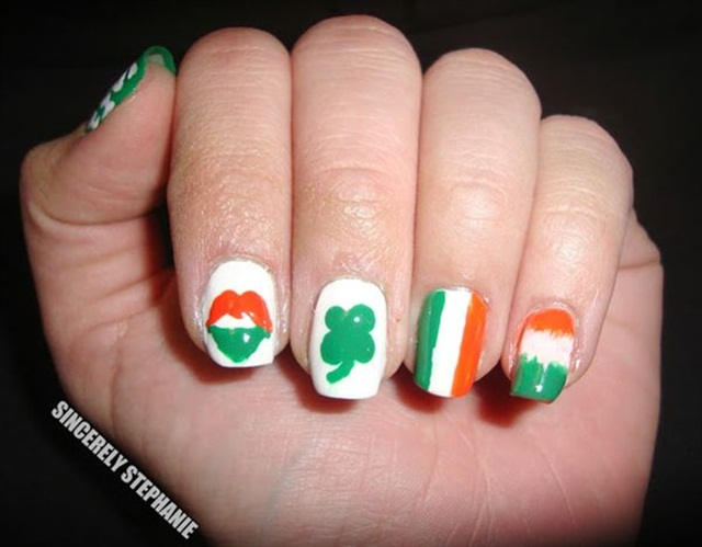 Clover All Over: 13 St. Patrick's Day Nail Art Designs - - NAILS ...
