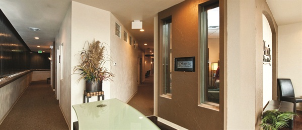 <p>Phenix Salon Suites are private, but close together to facilitate interaction with other suite renters.</p>