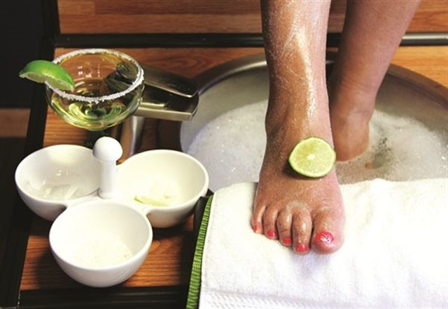 <p>A deluxe or spa-style pedicure will appeal to all the senses and may include an extended massage or a complimentary beverage. Photo courtesy of Infinity Luxury Salon in the Gorge.</p>