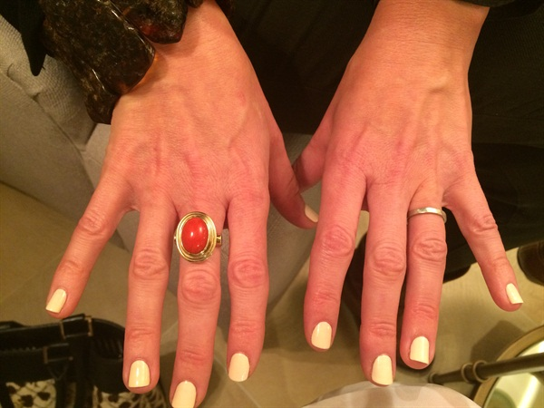 <p>Shel Pink is wearing SpaRitual Presence (coming in May).</p>