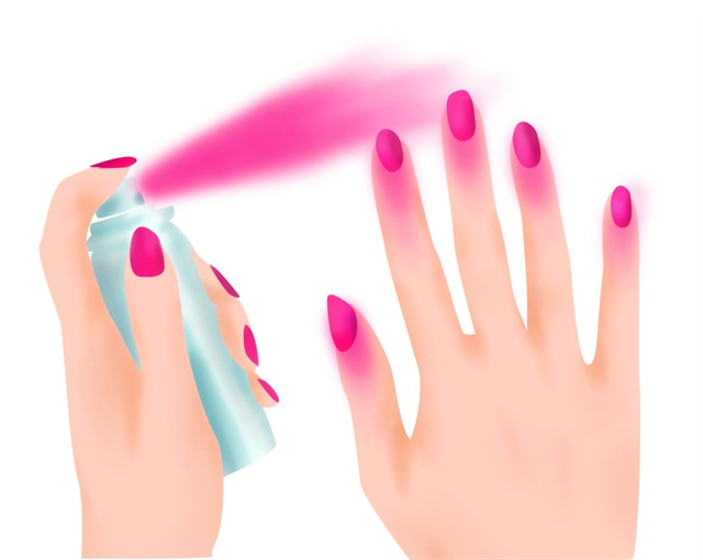 All I Can Say Is Wow Cool But What A Mess Would Never Want To Go Anywhere And Pay For Someone Spray That Polish On My Nails