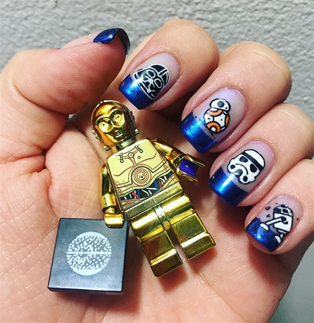 Starry Night 15 Manicures With Star Wars And Star Themed Nail Art