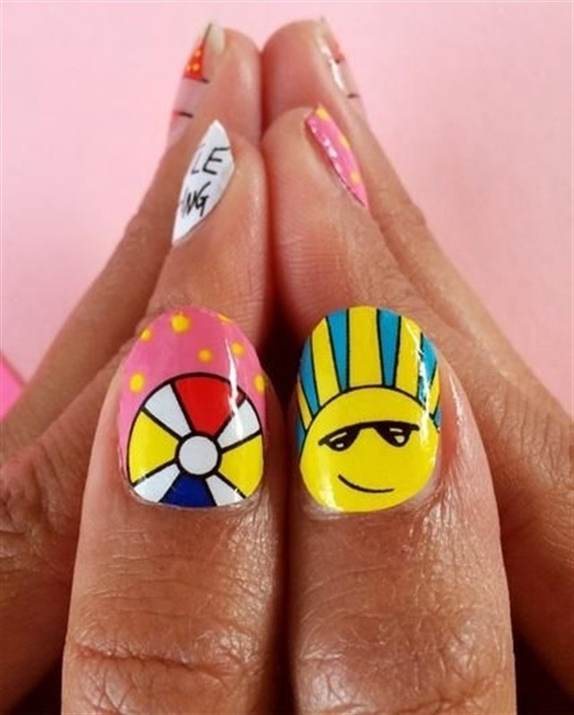 Sunny-side thumbs - Here Comes The Sun: Hot Nail Art For Summer - - NAILS Magazine
