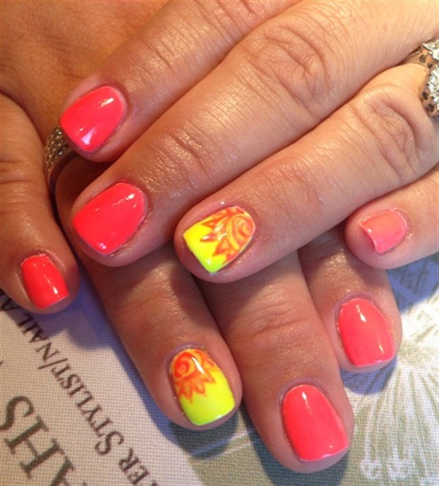 It's gonna be a scorcher - Here Comes The Sun: Hot Nail Art For Summer - - NAILS Magazine