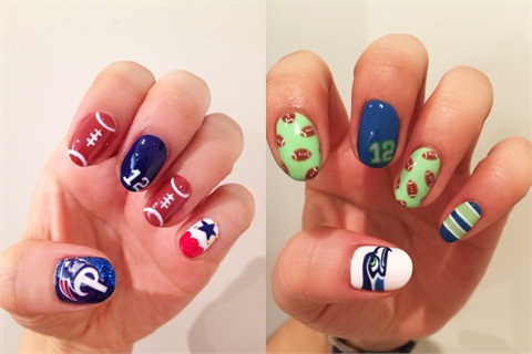 Pay Homage To The Team You Re Betting On By Sporting Nails That Will Make Cheerleaders Jealous