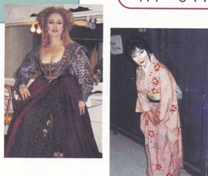Nail technician Kimberly Thompson's clients love her stories about backstage at the opear and eagerly await her annual costumed Christmas card.