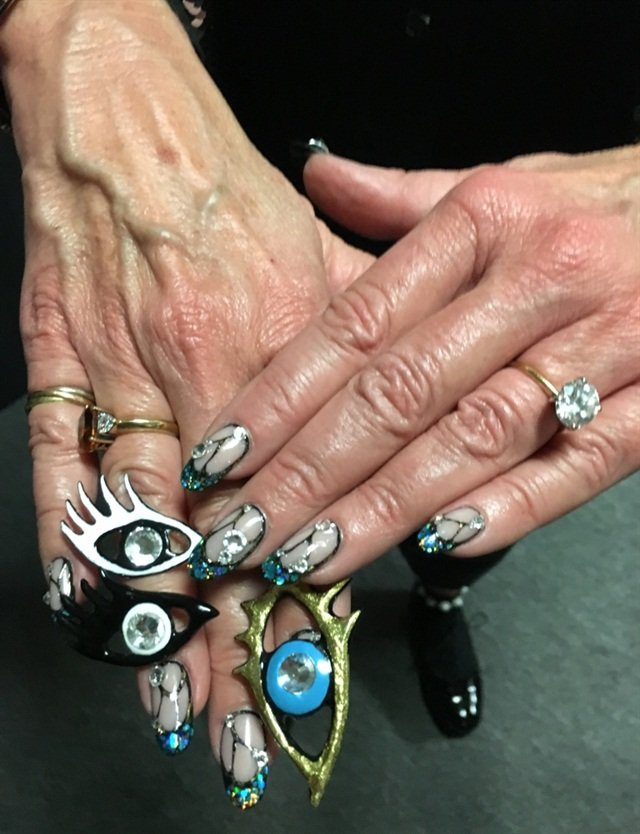<p>Jan Arnold's nails for the show!</p>