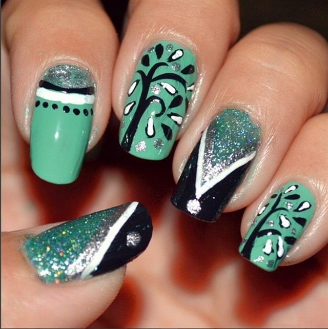 Arbor Day Nail Art: A Tribute to Trees - - NAILS Magazine