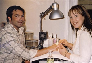 <p>Owner Christine Turner loves to do nails, even managing to convince husband Ernest to get a manicure.</p>