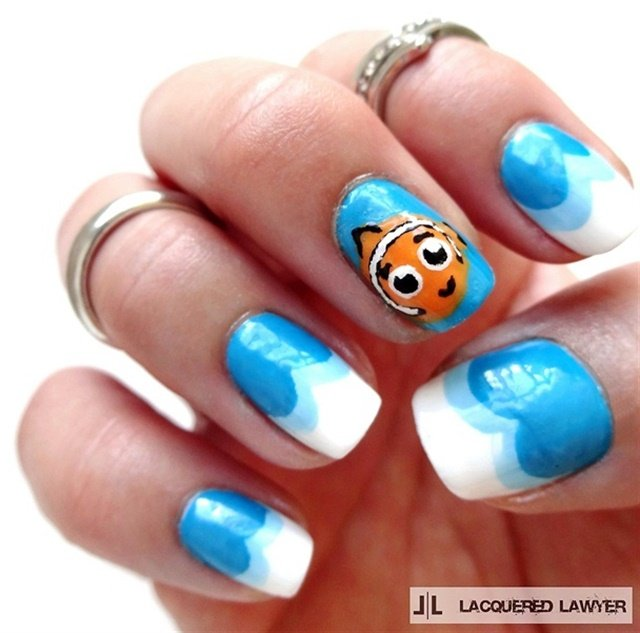 "<p>Via <a href=""http://nailartgallery.nailsmag.com/lacqueredlawyer/photo/367028/finding-nemo-nails"">Nail Art Gallery</a></p>"