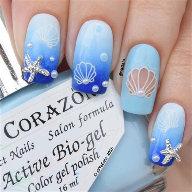 Playful Polishes June Nail Art Challenge Ocean Nails: 15 Awesomely Aquatic Nail Art Designs