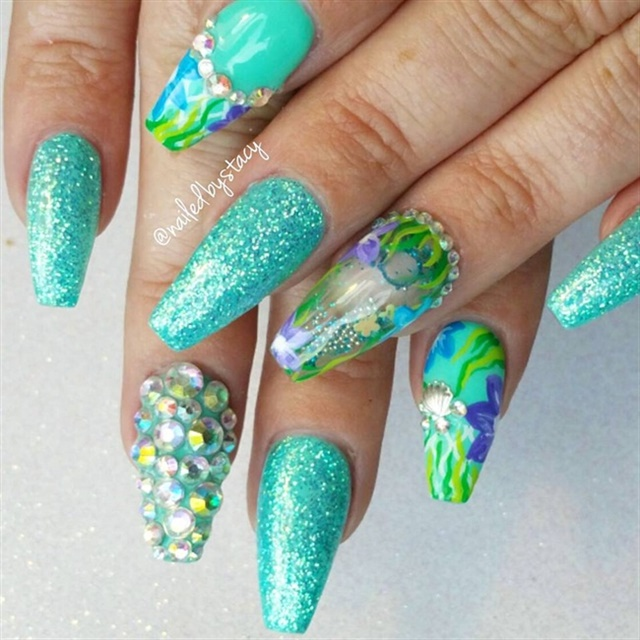 15 Awesomely Aquatic Nail Art Designs - - NAILS Magazine