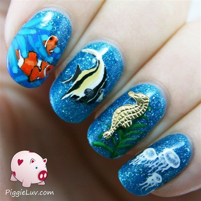 15 Awesomely Aquatic Nail Art Designs