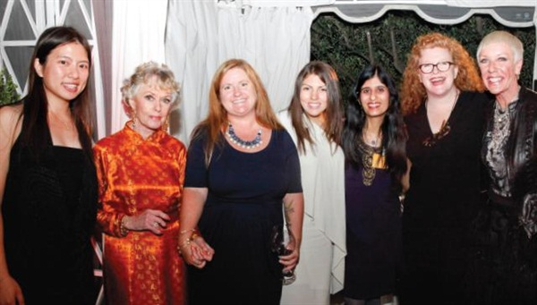 <p>The NAILS/VietSalon team was proud to sponsor BCL/CND's Legacy of Style event honoring Tippi Hedren. From left: VietSalon's Kim Pham, Miss Hedren, me, Salon Fanatic's Beth Livesay, NAILS' Sree Roy, NAILS' Cyndy Drummey, and CND's Jan Arnold.</p>
