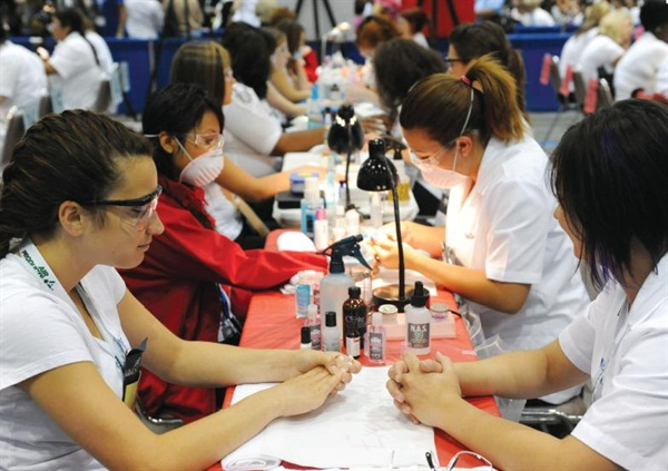 <p><span>The SkillsUSA practical applications evaluate the contestants' abilities </span><span>to perform the most common nail services in salons.</span></p>