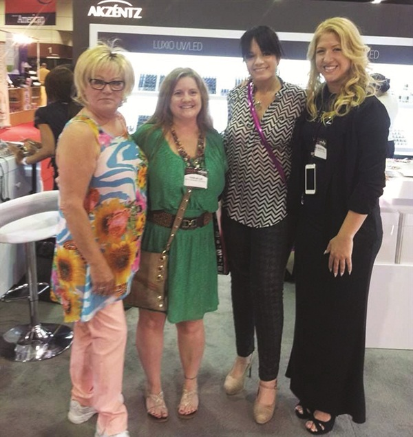 <p>Vicki was a constant at every trade show. (Here we are at Premiere Orlando with Marilyn Garcia and Gina Silvestro.)</p>