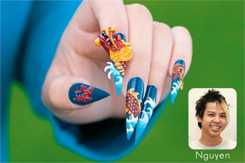 The winner of VietSALON Magazine's dragon nail art mural contest, nail  artist Robert Nguyen lent his 3-D nail artistry to this month's Lunar New  Year-themed ... - Enter The Dragon - Style - NAILS Magazine
