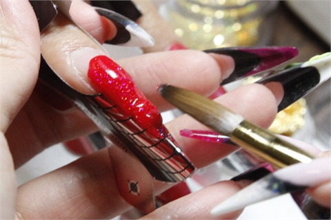 Year Of The Horse Stiletto Nails