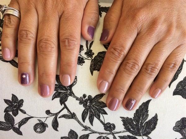 <p>My mom's gradient mani made with Zoya polish.</p>