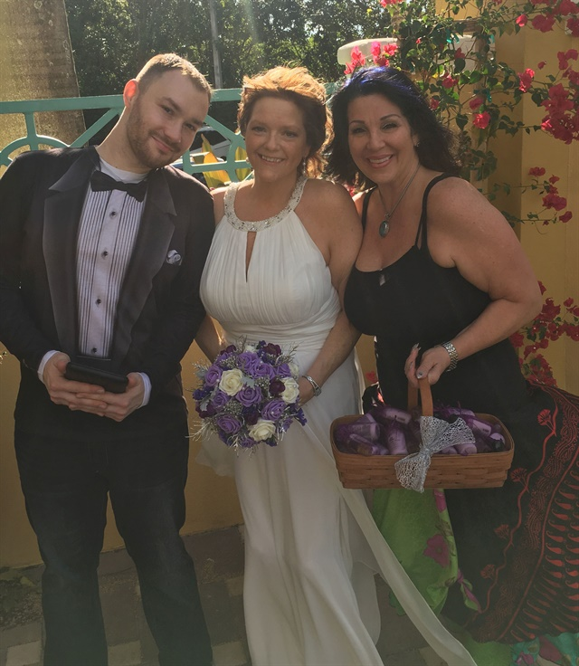 "<p>The ""Famous"" wedding of Pam Black, incorporated Nail Talk Radio's Braden Jahr as officiant, and Athena Elliott as the ""Dadi"" flower girl.</p>"