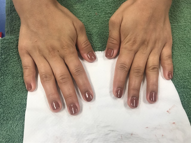 I did an OPI manicure with paraffin service. Let's just say she loved her massage.