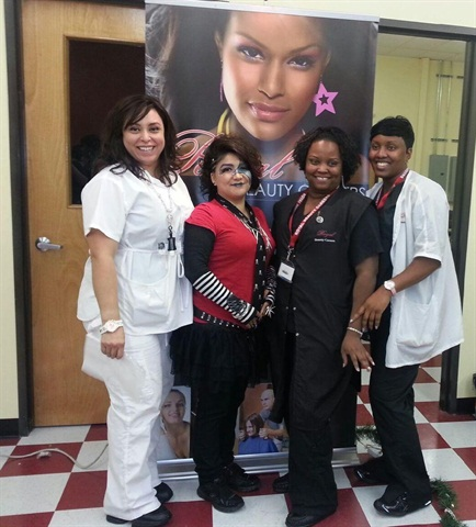 <p>The winning team included students Eva Alegra (makeup), DeAnn Wilson (model), LaDonna Thierrey (hair), and Tamara Varnado (nail tech).</p>