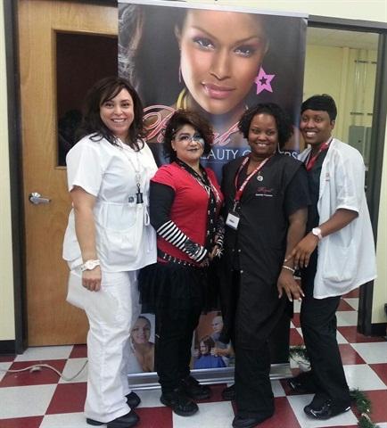 <p>The winning team included students Eva Alegra (makeup), DeAnn Wilson (model), LaDonna Thierrey (hair), and Tamara Varnado (nail tech).</p>