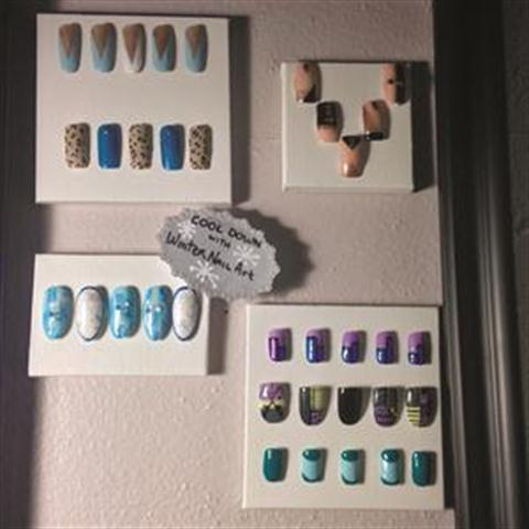 At Hause of Nails in Round Rock, Texas, clients are greeted with a beautiful display of seasonal nail art designs.