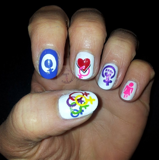 Nail Art for International Women\'s Day - - NAILS Magazine