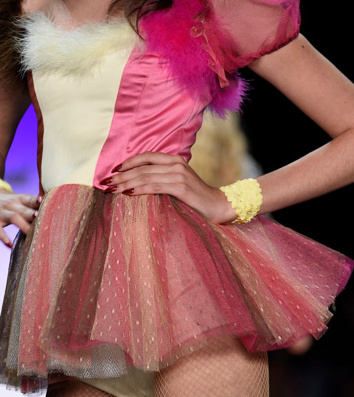 <p>Morgan Taylor for Betsey Johnson.</p>